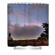 Dome And Clouds - Guatemala Iv Shower Curtain