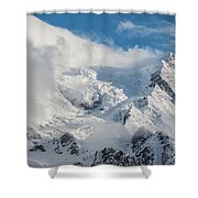 Dome Du Gouter In The Clouds Shower Curtain