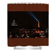 Dome Eiffel Tower Paris France Shower Curtain