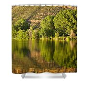 Dome Lake Sunset Shower Curtain