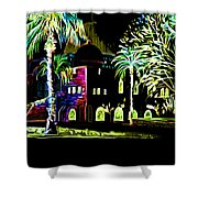Dome Of The Rock At Night Shower Curtain
