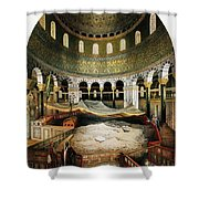 Dome Of The Rock, Jerusalem, 1862 Shower Curtain