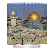 Dome Of The Rock Jerusalem Israel Shower Curtain