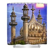 Domes In The Sunset Shower Curtain