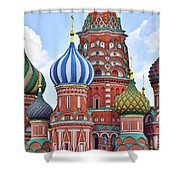 Domes Of St. Basil Shower Curtain