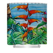 Dominican Heliconia Shower Curtain