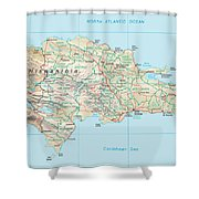 Dominican Republic 2 Shower Curtain