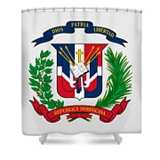 Dominican Republic Coat Of Arms Shower Curtain