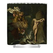 Dominique Ingres   Angelica Saved By Ruggiero Shower Curtain