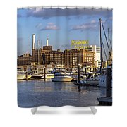 Domino Sugars Sign Shower Curtain