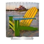 Don Cesar And Beach Chair Shower Curtain