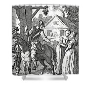 Don Quixote And Sancho Panza By William Shower Curtain