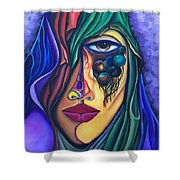 The Admirer - Scar Series 4 Shower Curtain