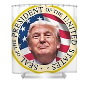 Donald Trump Us President United States Seal  Shower Curtain