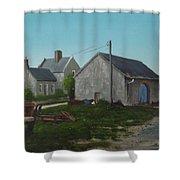 Donamon Railway Station Shower Curtain