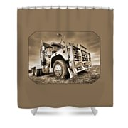 Done Hauling - Sepia Shower Curtain