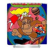 Donkey Kong Arcade Game Art Shower Curtain