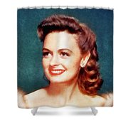 Donna Reed By John Springfield Shower Curtain