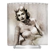 Donna Reed, Vintage Actress By John Springfield Shower Curtain