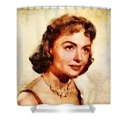 Donna Reed, Vintage Hollywood Actress Shower Curtain