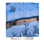 Donnelly Creek In Winter Shower Curtain