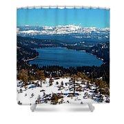 Donner Lake Sierra Nevadas Shower Curtain