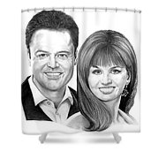 Donnie And Marie Osmond Shower Curtain