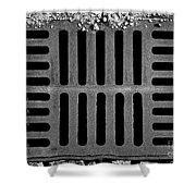 Don't Forget The Drains Bw Shower Curtain