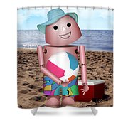 Don't Forget The Sunscreen Shower Curtain
