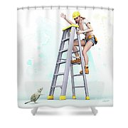 Don't Panic Shower Curtain