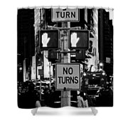 Don't Walk At Times Square Shower Curtain