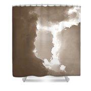 Donut Hole - Sepia Shower Curtain