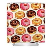 Donut Pattern Shower Curtain