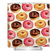 Donut Pattern Shower Curtain