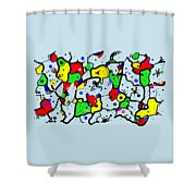 Doodle Abstract Shower Curtain