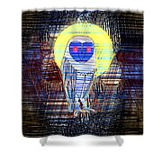 Doodle Buho Shower Curtain
