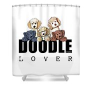 Doodle Lover Shower Curtain