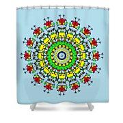 Doodle Mandala Shower Curtain