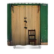 Door And Chair Shower Curtain