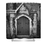Door At St. Johns In Tralee Ireland Shower Curtain