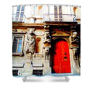 Door To Milan Shower Curtain by Michelle Dallocchio