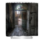 Door To Stairs Shower Curtain