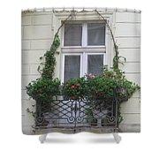 Door Topiary Shower Curtain