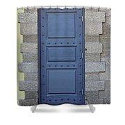 Door With No Handle Shower Curtain
