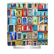 Doors And Windows Of The World - Vertical Shower Curtain