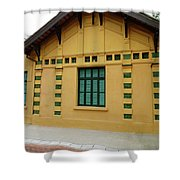 doors and windows Officialcolors Shower Curtain