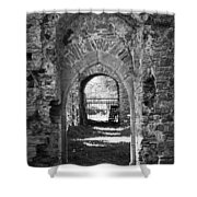 Doors At Ballybeg Priory In Buttevant Ireland Shower Curtain