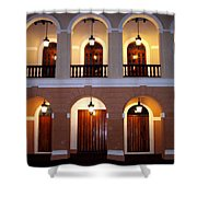 Doors Of San Juan Square Shower Curtain