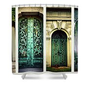 Doors Of Woodlawn Shower Curtain