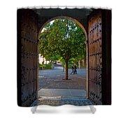 Doorway And Arch Between Gardens Shower Curtain